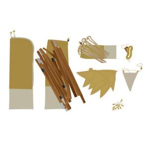 NORDISK ( ノルディスク ) ユドゥンミニ カラーパック テント 部品セット マスタード /...