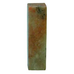 中国福建省福州市近郊寿山郷産出の石です。石質に硬軟少なく彫刻に適しています。双平章ですので両面使えま...
