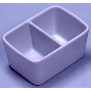 26504 陶器 角筆洗 2穴 12.0cm  e-unica