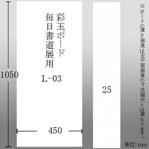 603626 彩玉ボード 毎日書道展用厚さ25ミリ L-03 450*1050*25mm【メーカー直送・代引不可】|e-unica