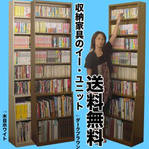 ロング書棚シリーズの幅60cm本棚。薄型なのに大量収納。 新書や文庫本、コミックを上部に収納、下部に...