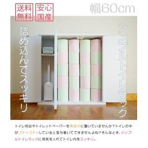 薄型なのでトイレ収納に最適!シンプルトイレラック幅60cm 奥行16cm トイレットペーパー20個収納可 収納|e-unit|02