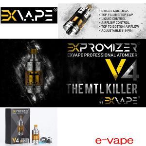 大幅値下げ!Exvape Expromizer V4 MTL RTA 2ml 超タイトドロー|e-vapejp