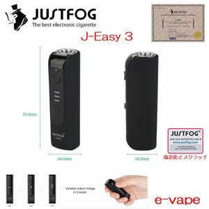 JUSTFOG J-Easy 3 Battery VV MOD 900mAh 小型MOD|e-vapejp