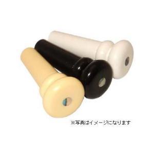 SCUD(スカッド) パーツ エンドピン F-0018A プラスティック、アバロン点入り(ブラック)|e-yoshiyagakki
