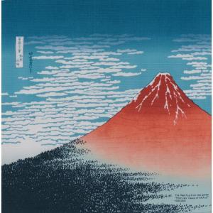 風呂敷 綿小風呂敷 約48cm 赤富士