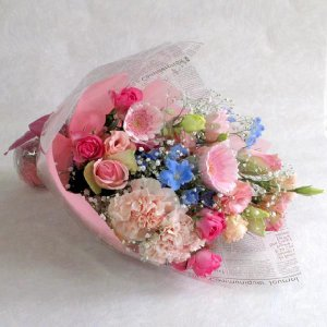 花束 ピンク系 誕生日の花 翌日配達 ギフトプレゼント ブー...