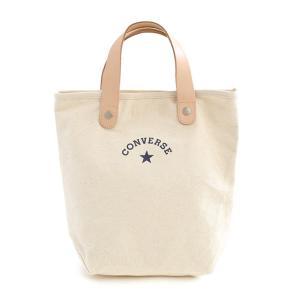 バッグ / ブランドロゴがワンポイント、キャンバス×レザーハンドルの トートバッグ 。 レディース ...