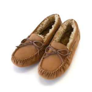 モカシン ムートン シューズ 靴 レディース ぺたんこ 抗菌防臭 超撥水 スウェード フラット パンプス 冬 新作