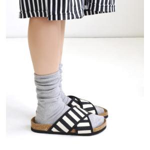 ソックス レディース 靴下 ハイソックス 黒 白 グレー ルーズ リブ くしゅくしゅ かわいい おしゃれ リンネル掲載