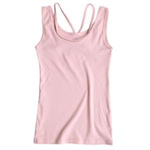 タンクトップ レディース インナー 夏 キャミソール 大きいサイズ 重ね着 肌着 部屋着 ルームウェア トップス 三つ編み 女性 セール