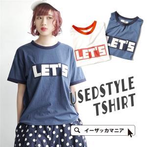 Tシャツ レディース 半袖 tシャツ カットソー ロゴT ト...