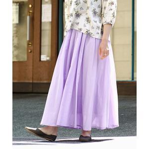 ロングスカート マキシスカート レディース 夏 涼しい スカート 綿100% ウエストゴム Aライン...
