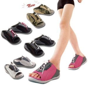 新感覚!スニーカーみたいに楽に歩けるサンダル!  特殊5層構造が、無意識に筋肉を動かし、下半身をスリ...