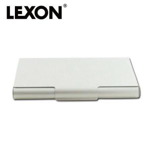 LEXON レクソン 名刺入れ カードケース シンプル 名刺入れ LD14アルミニウム
