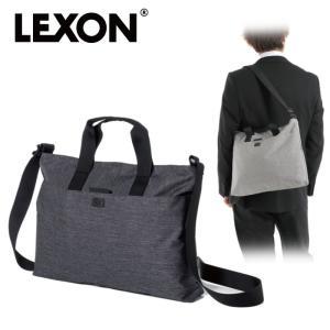 LEXON レクソン ショルダーバッグ トートバッグ ワンドキュメントバッグ LN1414 グレー  メンズファッション