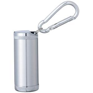 携帯灰皿 灰皿 おしゃれ キーホルダー カラビナ付き シリンダー5 灰皿 シルバーサテン  USBライター メンズ Men's  おしゃれ e-zakkaya