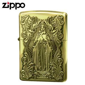 zippo ジッポーライター ディープエッチング アラベスクマリア 真鍮いぶし