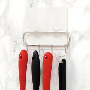 キッチンツール 収納 フック ツールスタンド 自由棚 4連フック 76601|e-zakkaya