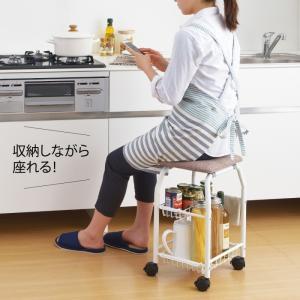 キッチンワゴン キャスター付き キッチン 椅子 キャスター ワゴンチェアー キッチンチェア 台所 椅子 調理用チェア 立ち作業補助椅子 スワレル A-77146 敬老の日|e-zakkaya