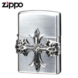 zippo ジッポー ライター クロス オイルライター ジッポライター ハイエンドクロス 銀燻し 64170198