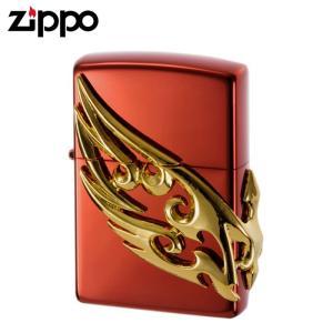 zippo ライター ジッポーライター zippoライター ブランド メンズ ウイングメタル レッドゴールド ギフト プレゼント 贈り物|e-zakkaya