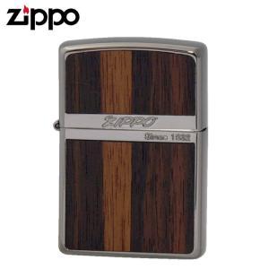 Zippoライター ジッポライター オイルライター 両面加工 NB-Wood ダーク 黒壇