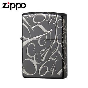 zippo ジッポーライター ナンバーデザイン ブラックニッケルエッチング 銀サシ仕上げ5面加工