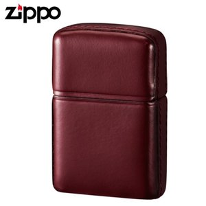 zippo ジッポーライター 松阪牛レザー ワインレッド