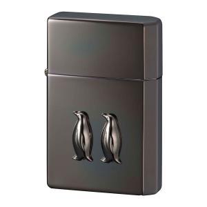 ライター オイルライター ギアトップ ペンギンメタル イオンブラック ギフト プレゼント 贈り物  USBライター メンズ Men's  おしゃれ e-zakkaya