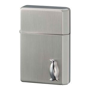 ライター オイルライター ギアトップ ペンギンメタル シルバーサテン ギフト プレゼント 贈り物  USBライター メンズ Men's  おしゃれ e-zakkaya