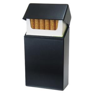 シガレットケース たばこケース 煙草ケース シガレットハードケースロング ブラック ギフト プレゼント 贈り物   メンズ Men's  おしゃれ|e-zakkaya
