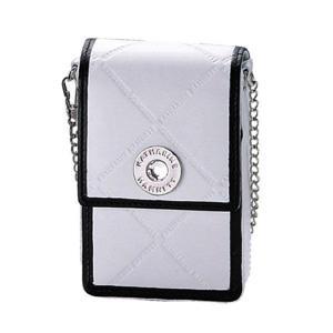 キャサリンハムネットのの型押しロゴがオシャレなシガレットケース。ロングサイズも収納可能。華やかなデザ...