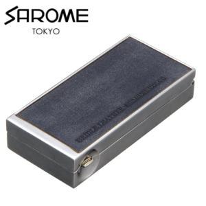 携帯灰皿 おしゃれ サロメ SAROME シルバー/紺ブライドルレザー EXPA61-02