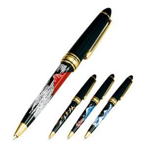 日本を感じさせる絵柄の蒔絵ボールペン  高級感のある、上品な蒔絵のボールペンです。 古来より縁起の良...