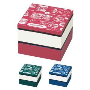 重箱 ランチボックス 2段 お弁当箱 ピクニック 運動会 アウトドア 漏れない 内蓋付き ミッキー BG 4.0 2段重