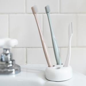 歯ブラシホルダー 歯ブラシスタンド 歯ブラシ立て トゥースブラシスタンド プレーン ラウンド