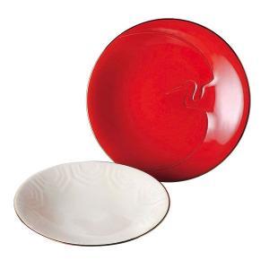 和食器 皿 紅白セット 大安吉日 鶴亀 千歳皿 28674