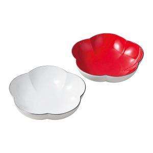 和食器 小鉢セット大安吉日 紅白梅型組福寿鉢 28820