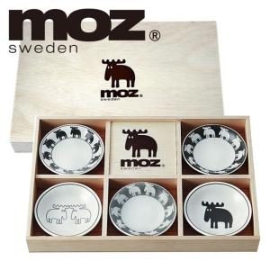moz エルク 食器セット 北欧デザイン 小皿5枚セット木箱入 50053