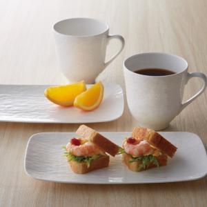 食器セット 白 ペア 皿 マグカップ 強化磁器製食器 hakuto ハクト ペアブランチセット 51501