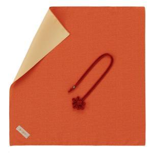 名入れ 対応 ふくさ 飾り結びふくさ 946 朱ベージュ ギフト プレゼント 贈り物  記念品|e-zakkaya