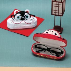 和のキャラクターが愛らしいメガネスタンド  お部屋にあるとほっこりするような和のキャラクターのメガネ...