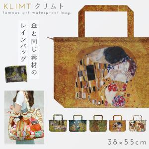 エコバッグ バッグ はっ水 撥水 カバー 雨 雨避け レインカバー レインバッグ コンパクト 折りたたみ 絵画 アート 名画レインバッグカバー クリムトギフト ギフ|e-zakkaya