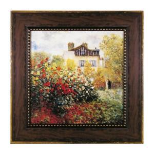 アートパネル アートフレーム モネ クロード モネ Monet 名画 有名 絵画 絵 壁掛け 庭園のアーチスト インテリアパネル ウォールパネル おしゃれ