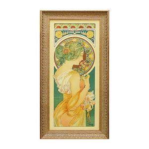 アート ミュシャ インテリア 人物像 アートパネル ミュシャ 名画 アルフォンス・ミュシャ 桜草 絵画 人物画 名画