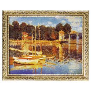 アートパネル アートフレーム モネ クロード モネ Monet 名画 有名 絵画 絵 壁掛け モネ アルジャントゥイユの橋 インテリアパネル ウォールパネル おしゃれ
