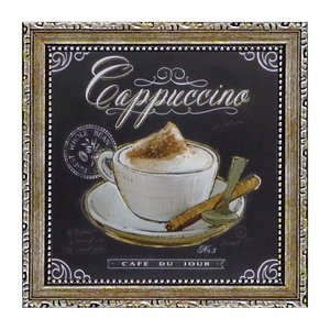 コーヒーがいろいろな表情を見せる 。 絵と額がセットになったフレーム付きのヨーロッパ風(フレンチ風)...