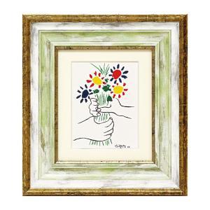 アートパネル アートフレーム ピカソ ブーケ パブロ・ピカソ Picasso 名画 有名 絵画 絵 壁掛けミュージアムシリーズ インテリアパネル ウォールパネル 額付き フレーム付き 世界の名画 有名 美術館