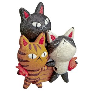 置物 オブジェ 置物 猫 ねこ 糸井忠晴 キャットコレクション Mサイズ ランチ IT-01505 キャット ネコ 猫 グッズ特集